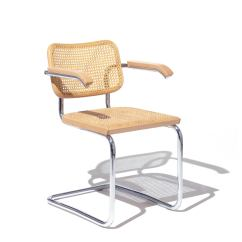 Marcel Breuer Cesca Chair With Armrests Dining Room Table Sets 6 Chairs By Knoll  Haus