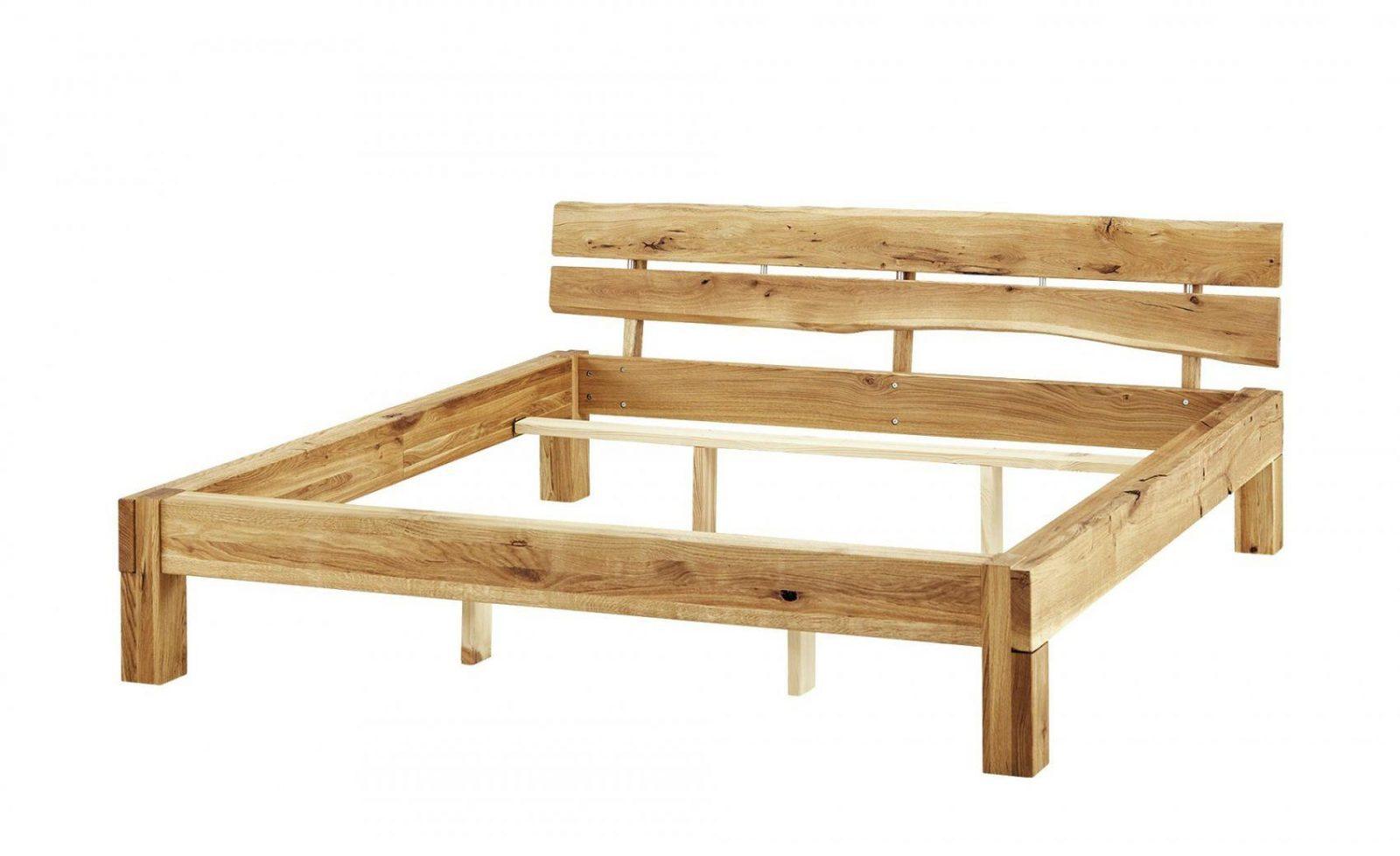 Massivholzbett Balken Bett