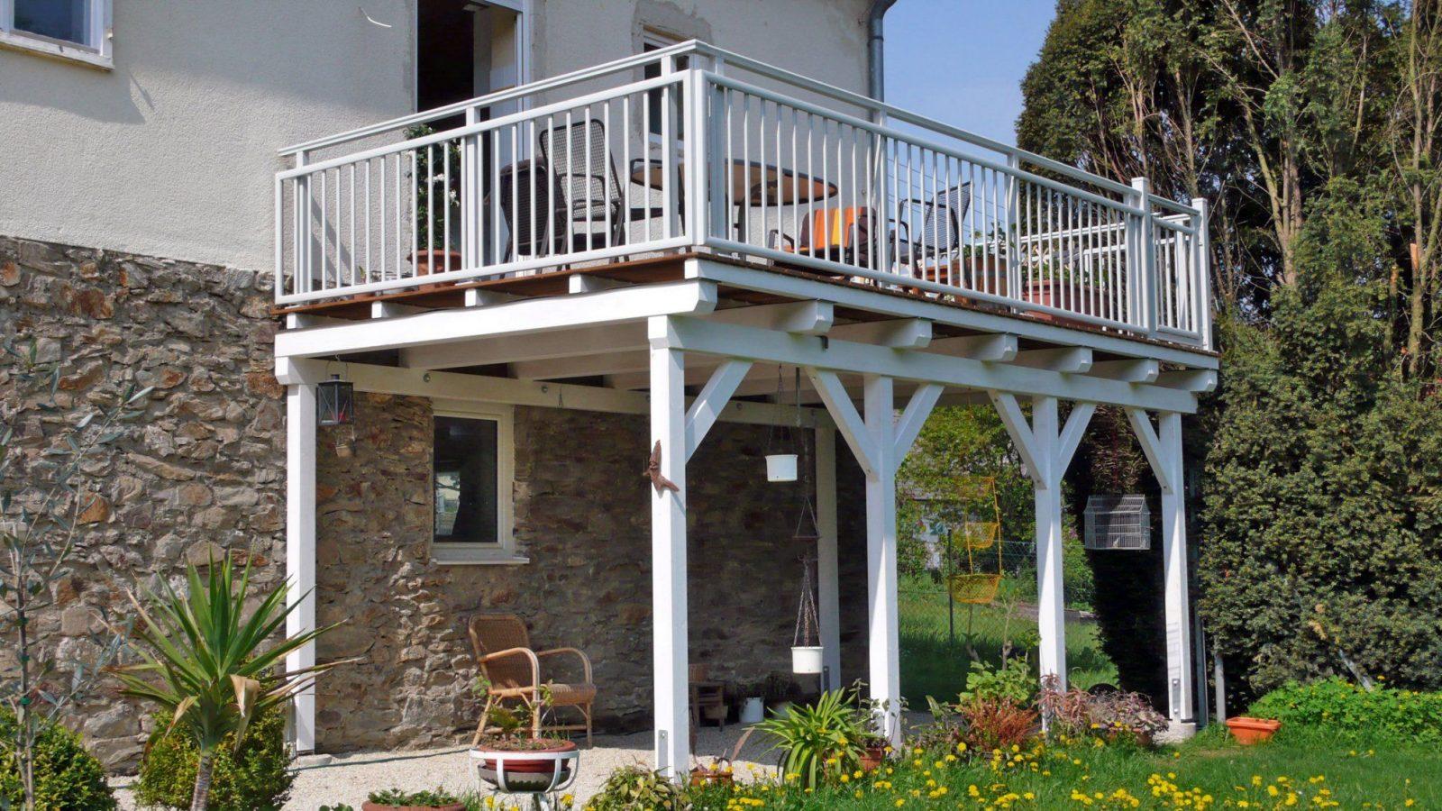 Anbaubalkon Holz Selber Bauen  Haus Design Ideen