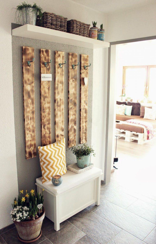Garderobe Aus Paletten Selber Bauen  Haus Design Ideen