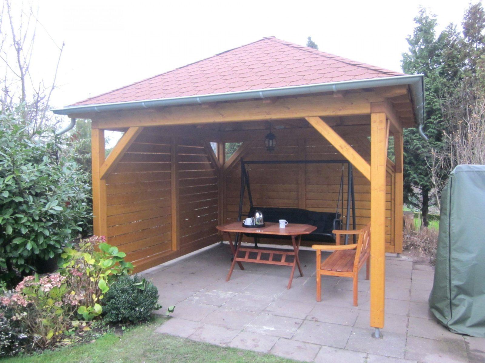 Holz Gartenpavillon Pavillon Aus Selber Bauen Bauanleitung Bauplan von Gartenpavillon Selber