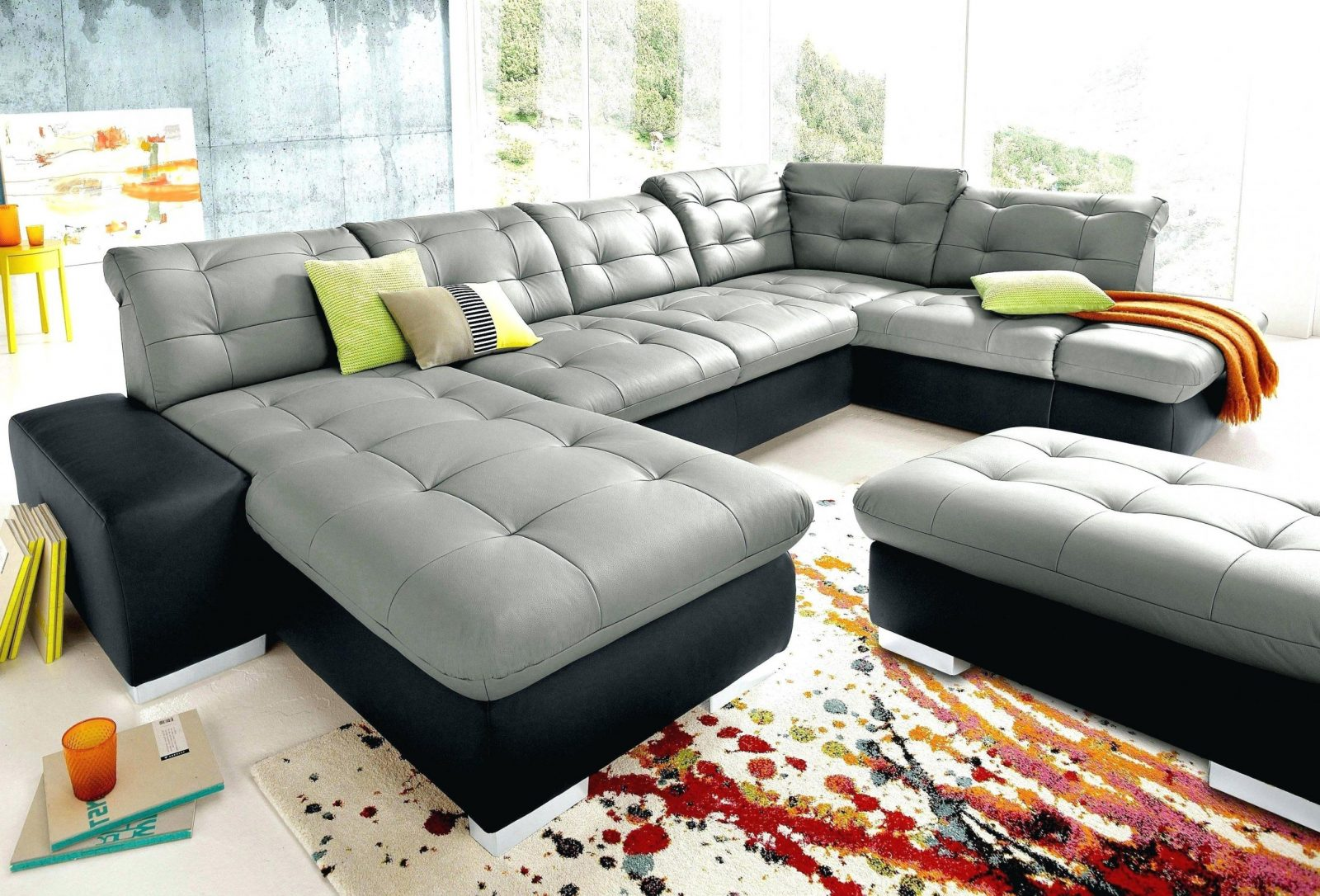 Big Sofa L Form Gunstig Stoff L Form Couch Wohnlandschaft Ecksofa