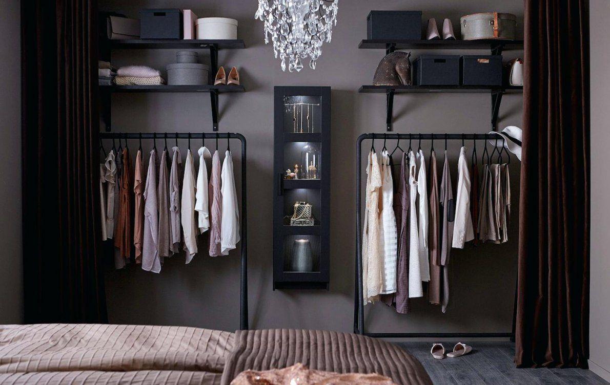 Ikea Vitrine Offener Kleiderschrank Mit Vorhang Haus Design Ideen