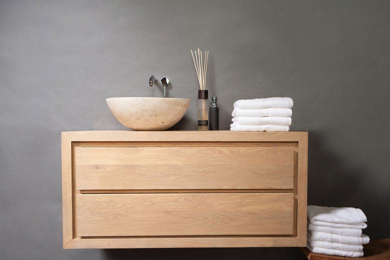 Waschbeckenunterschrank Aufsatzwaschbecken Holz ...