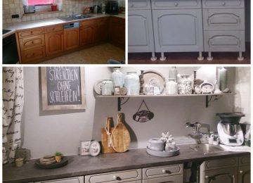 Küchenfronten Streichen Vorher Nachher | Welche Farbe Für ...