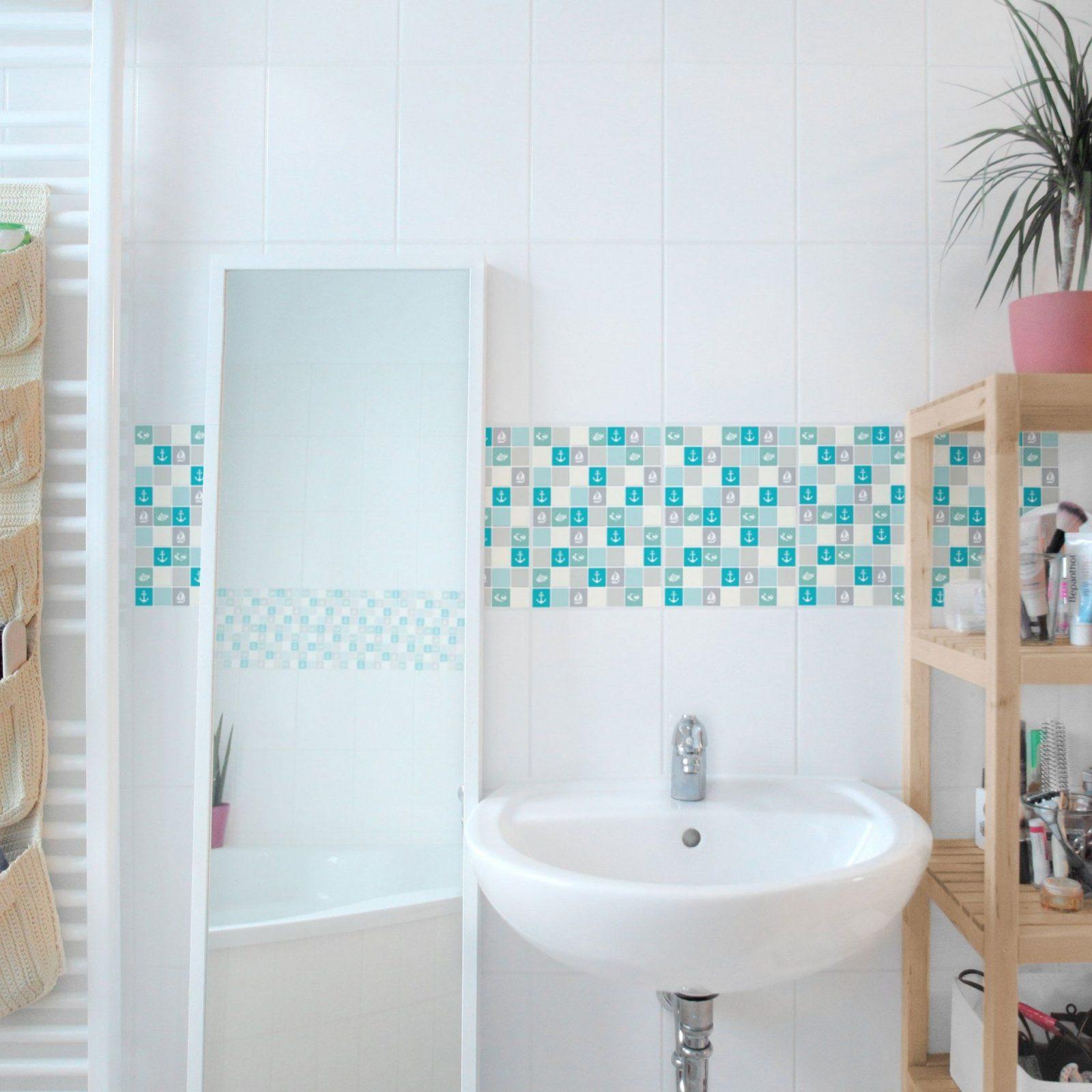 Badezimmer Mosaik Fliesen Turkis Bunte Mosaikfliesen Bilder Ideen