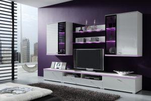 Wohnwand Weiß Hochglanz Hängend   Haus Design Ideen