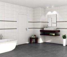 Badezimmer Anthrazit Weiß Fliesen Unglaublich On Für Weis ...