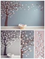 Baum Malvorlage Wand von Vorlage Baum Für Wand Bild  Haus ...