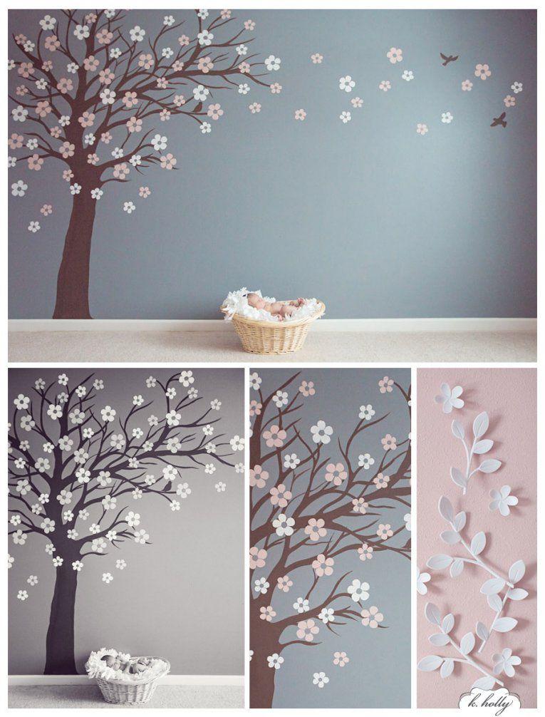 Baum Malvorlage Wand von Vorlage Baum Für Wand Bild  Haus
