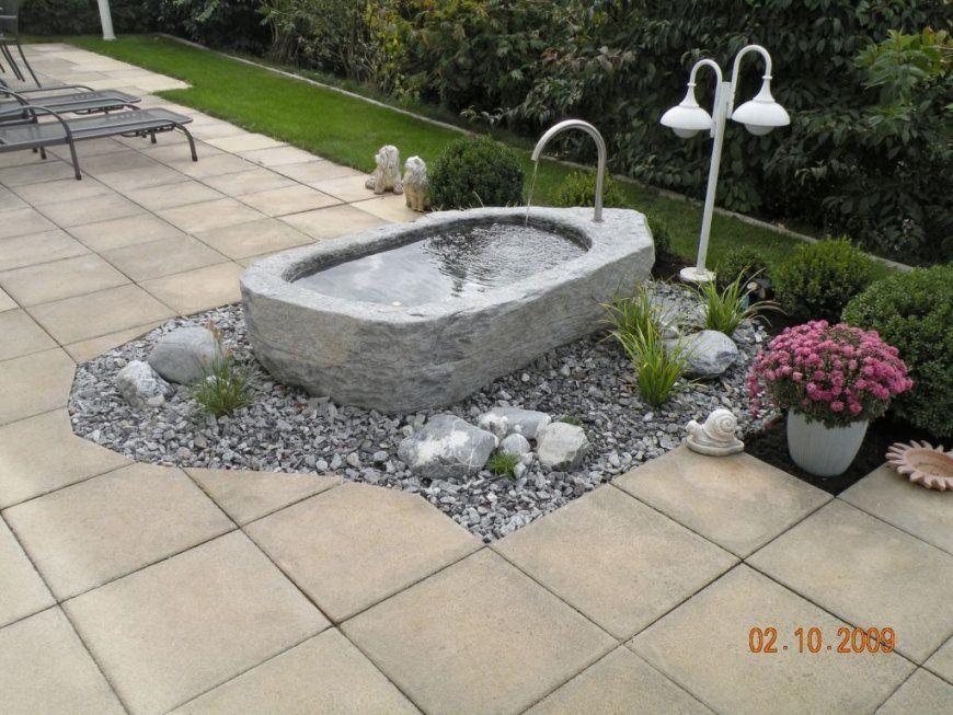 Brunnen Im Garten Anlegen  Haus Design Ideen