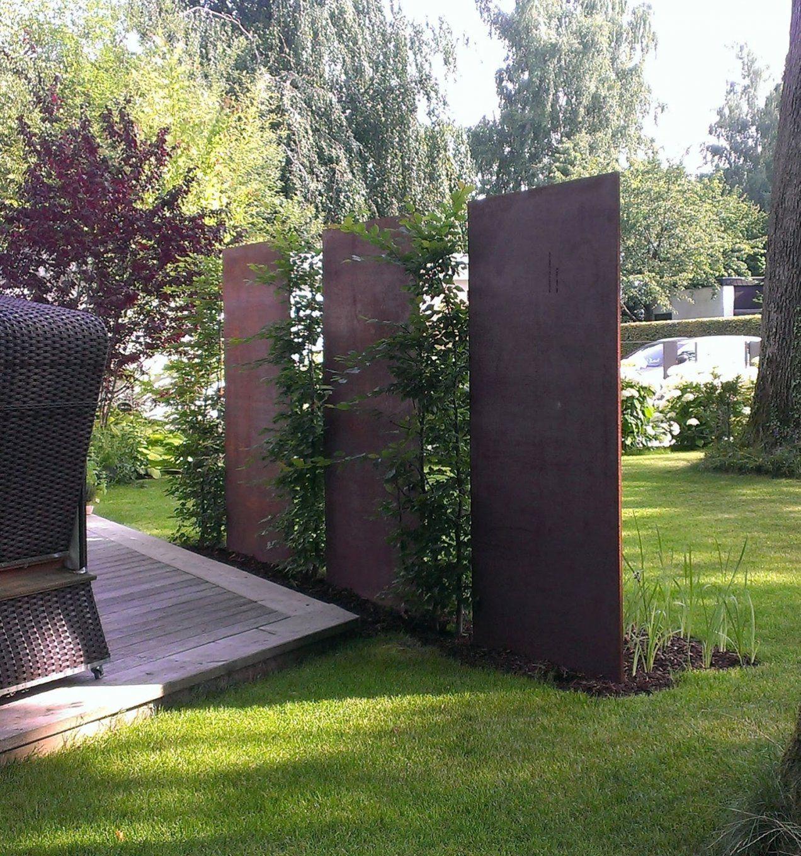 Cortenstahl Sichtschutz Fr Garten  Haus Design Ideen
