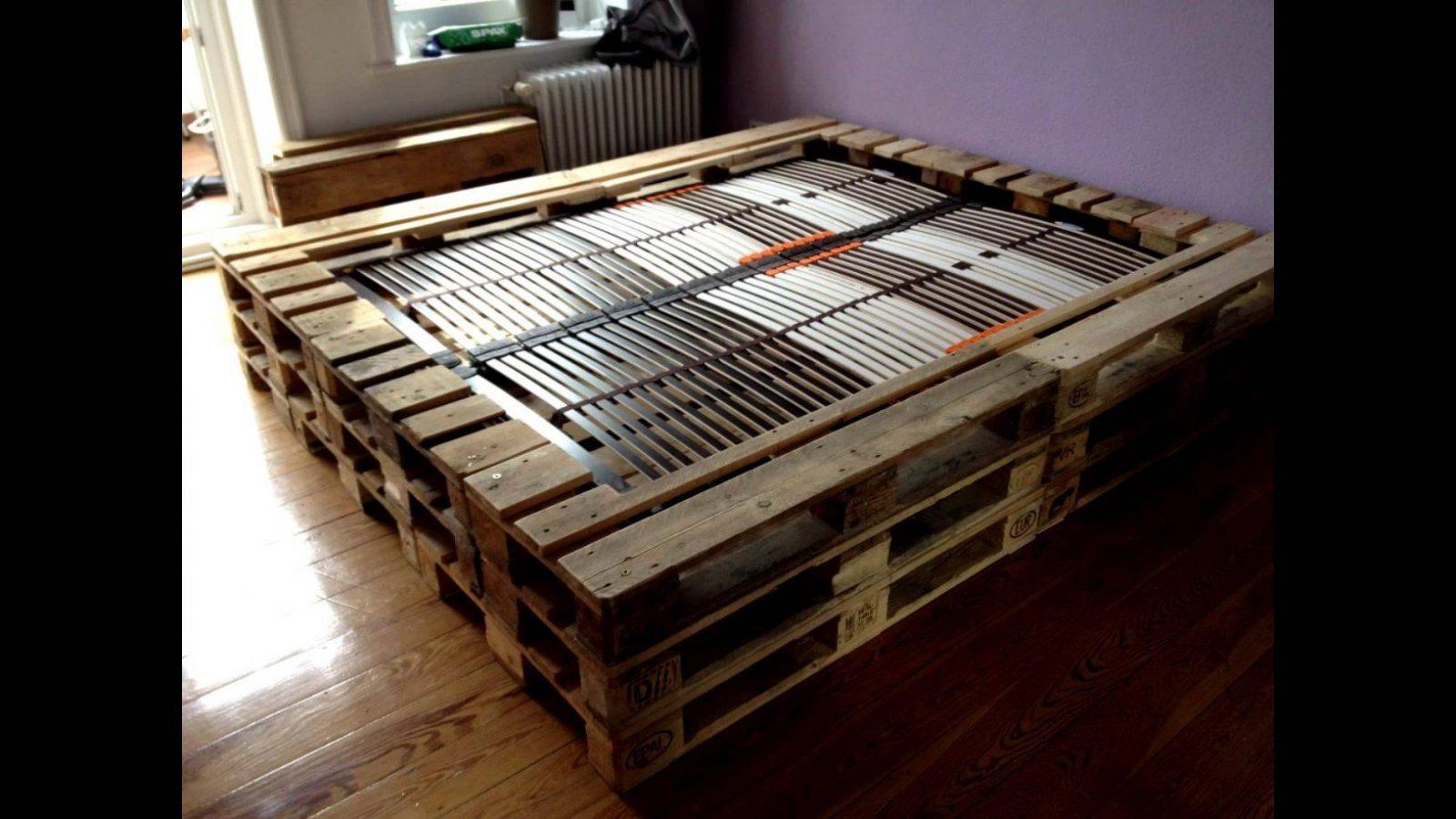 Podest Bett Aus Paletten  Haus Design Ideen