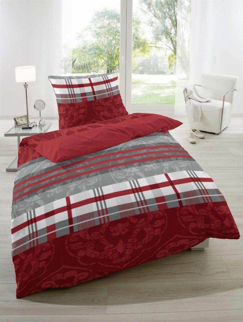 Bettwäsche Grau Rot Schwarz Einrichtungsstil Moderne Bettwäsche