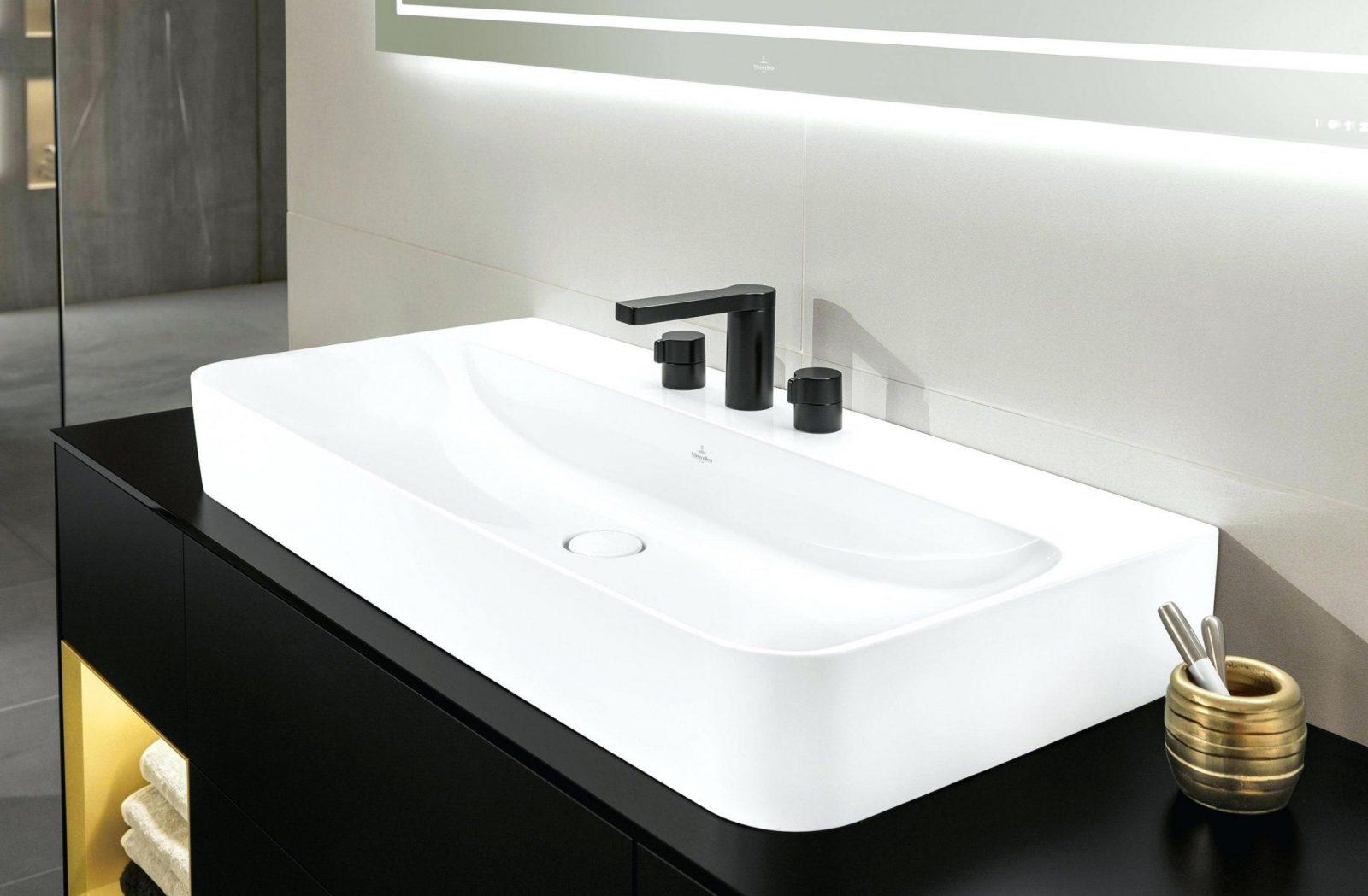Waschbecken Spritzschutz Arbeitsplatte X Beleuchtung X Betonlampen