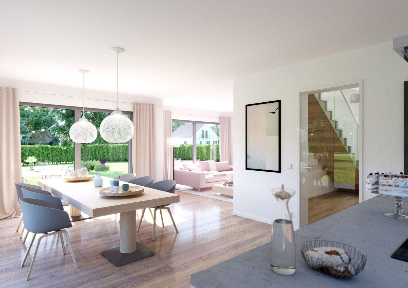 Modernes Wohnzimmer Mit Essbereich  Haus Design Ideen