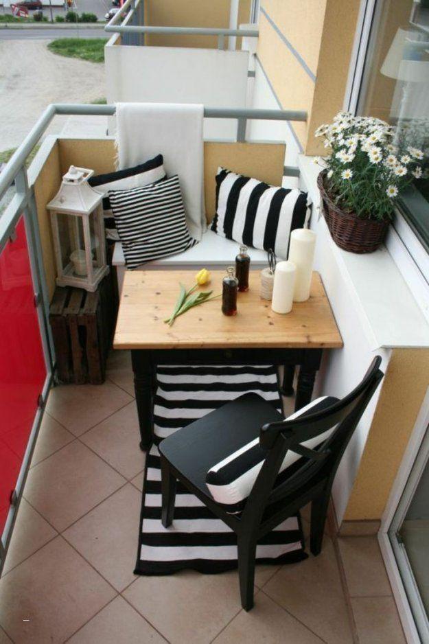 Kleinen Balkon Gemtlich Gestalten  Haus Design Ideen