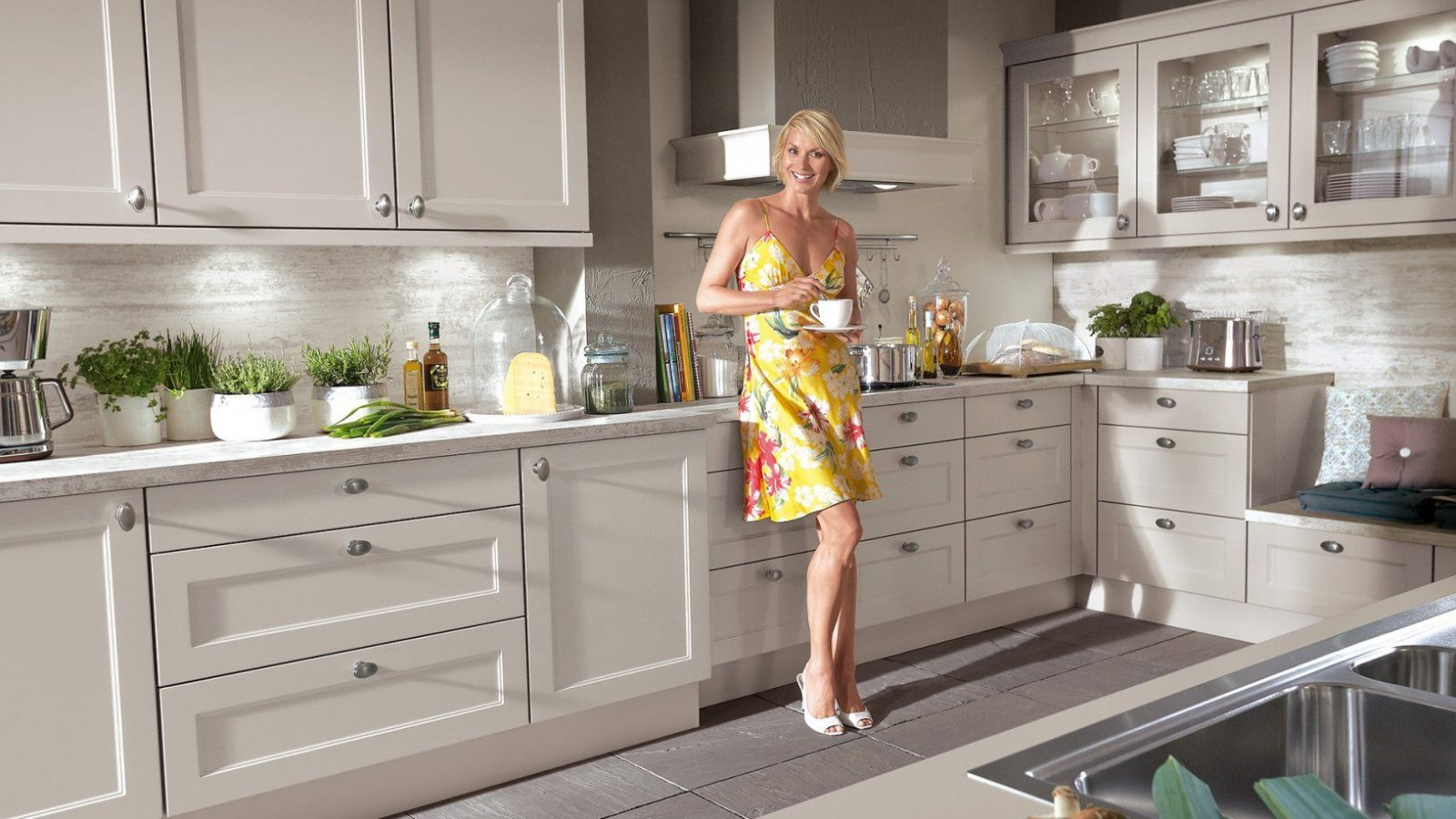 Küche Retro Stil | Küche San Marino Moebel88 Creme Vintage Stil Matt
