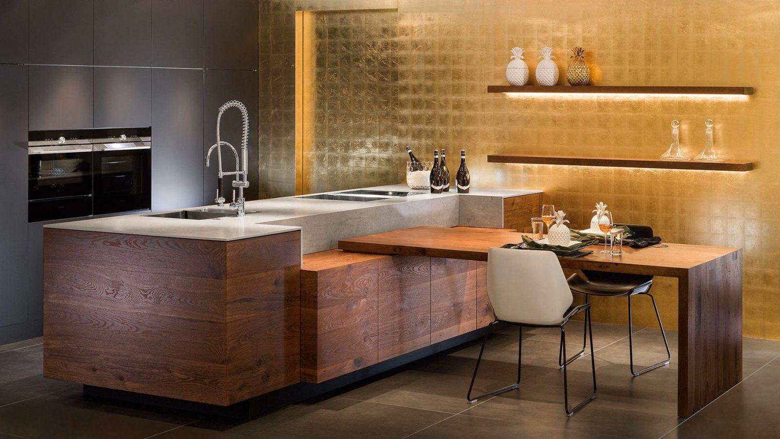 Kche Mit Integriertem Tisch  Haus Design Ideen