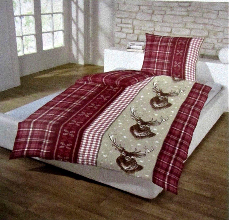 Rot Weiß Karierte Bettwäsche Biber Bettwäsche Normalgröße