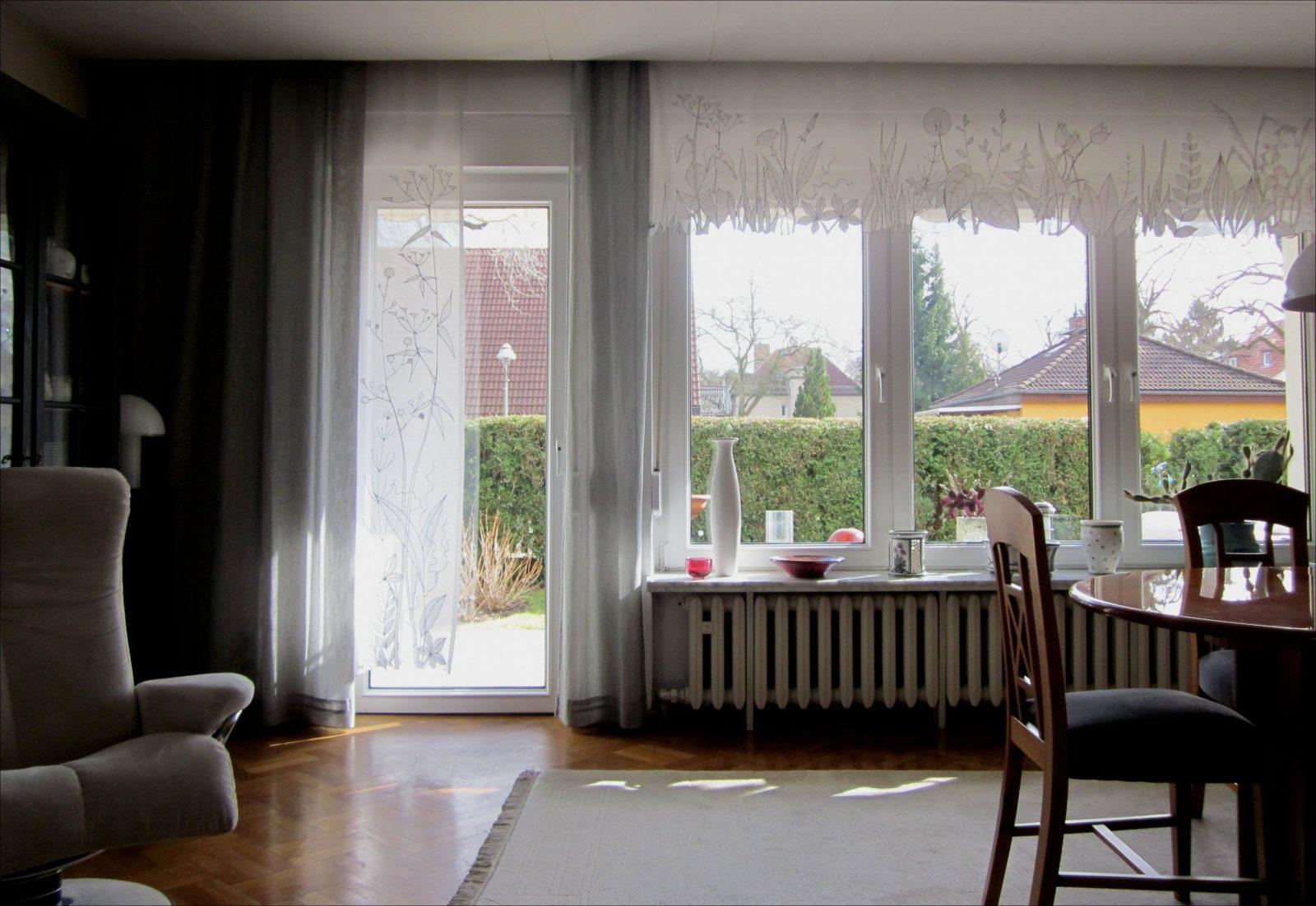 Vorhang Balkontur Und Fenster