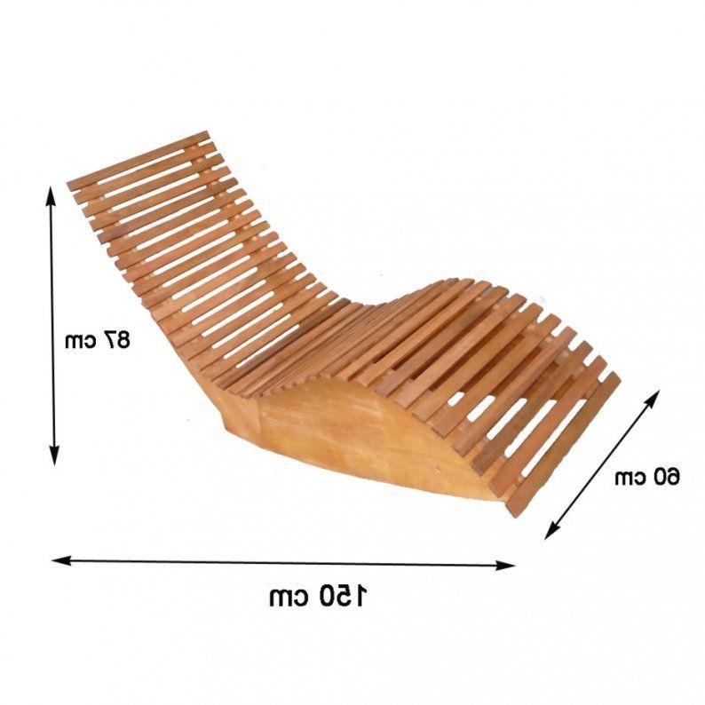 Holz Gartenliege Selber Bauen  Haus Design Ideen