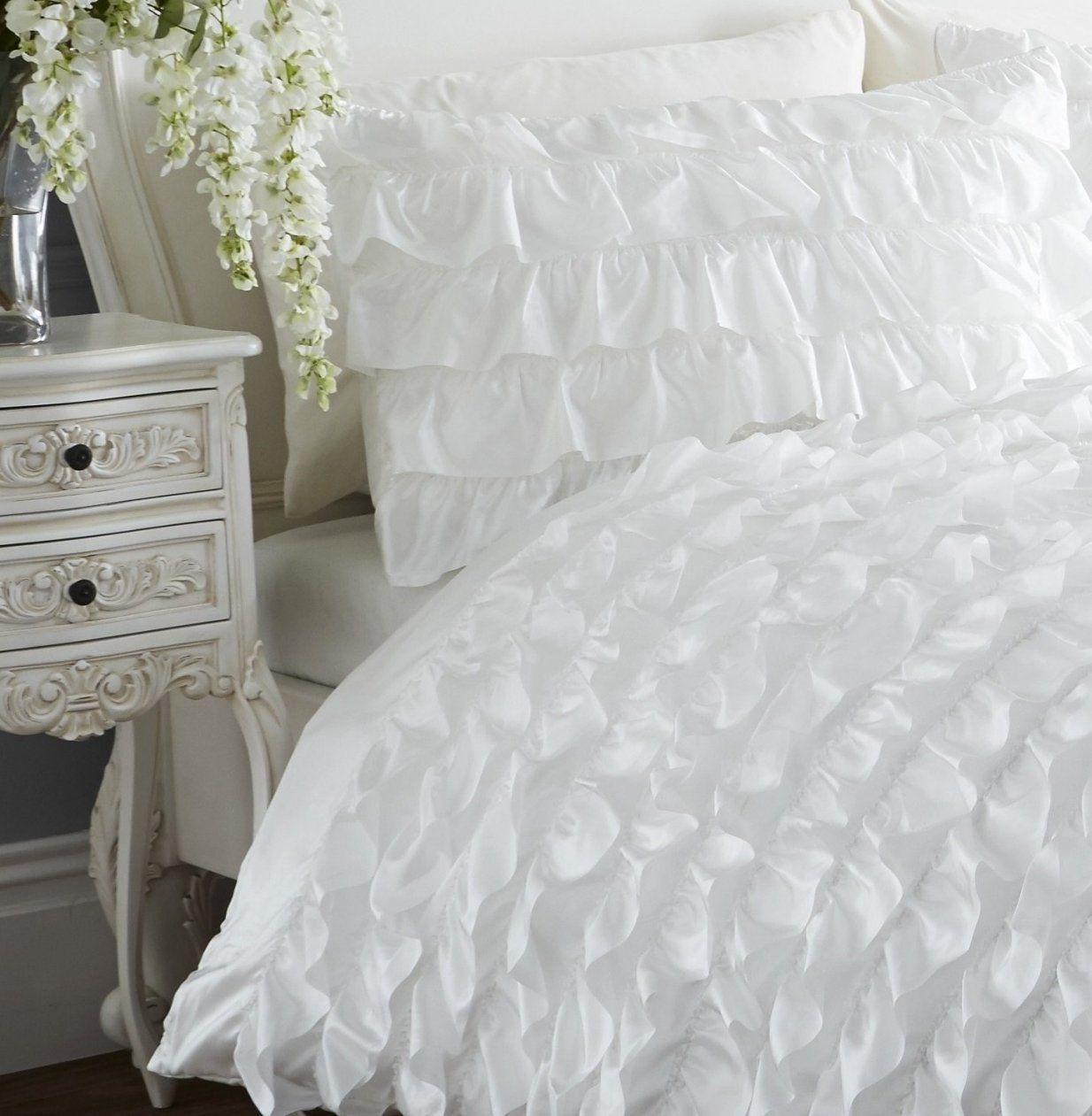 Weiße Bettwäsche Mit Rüschen Crop Spitze T Shirt Schulterfrei Mit