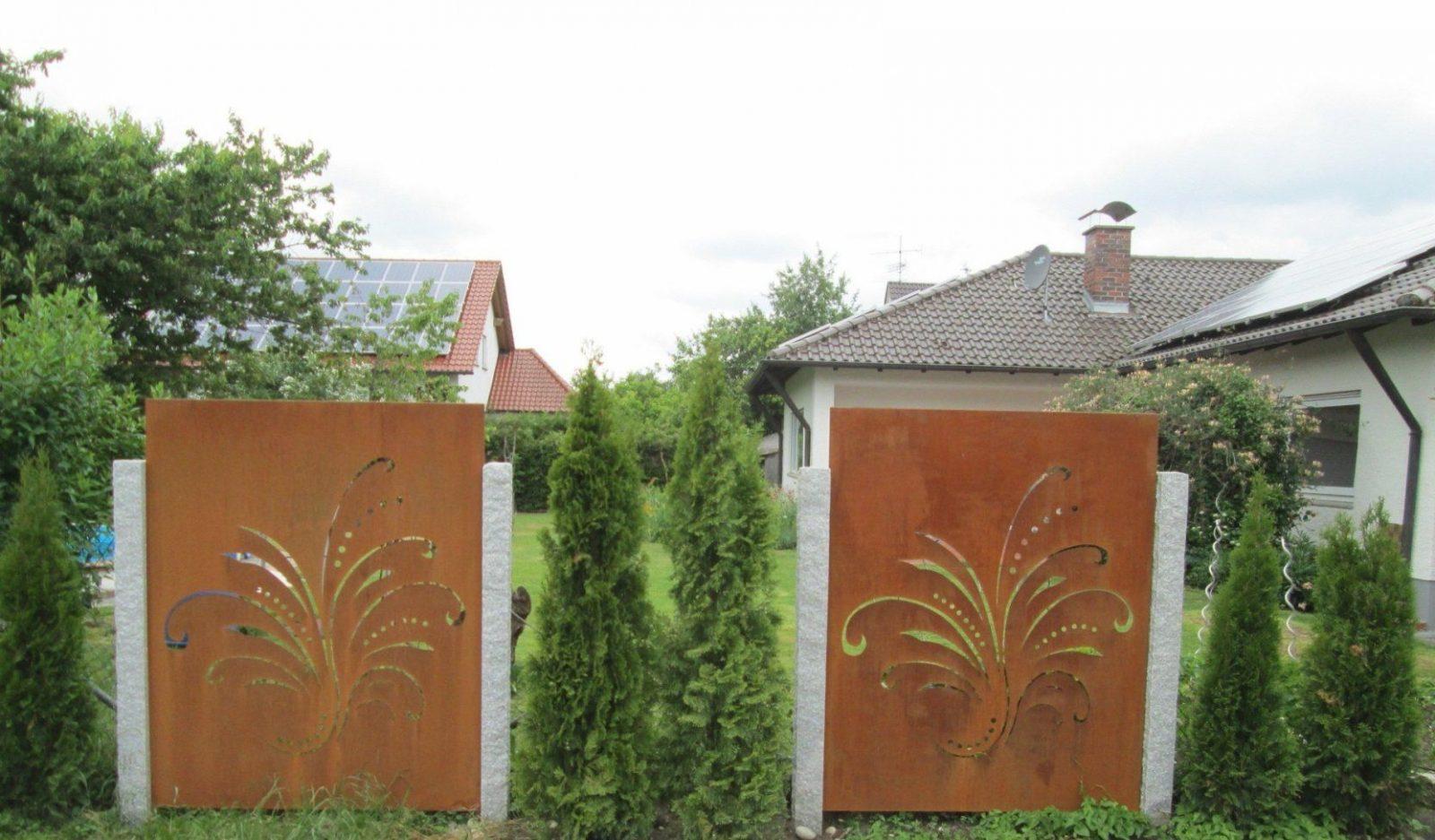 Garten Sichtschutz Metall Sichtschutz Glas Garten Inspirierend