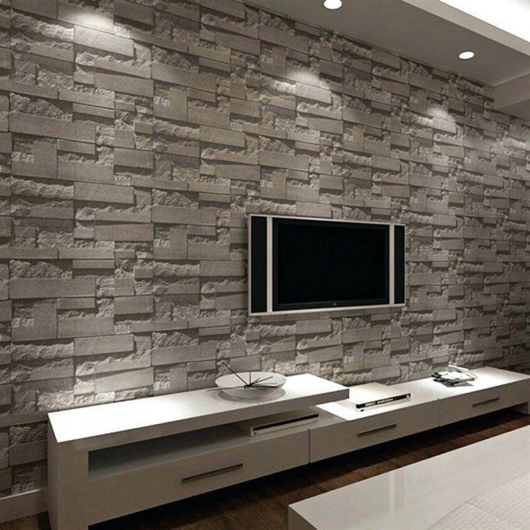 Stein Tapete Wohnzimmer 3D  Haus Design Ideen