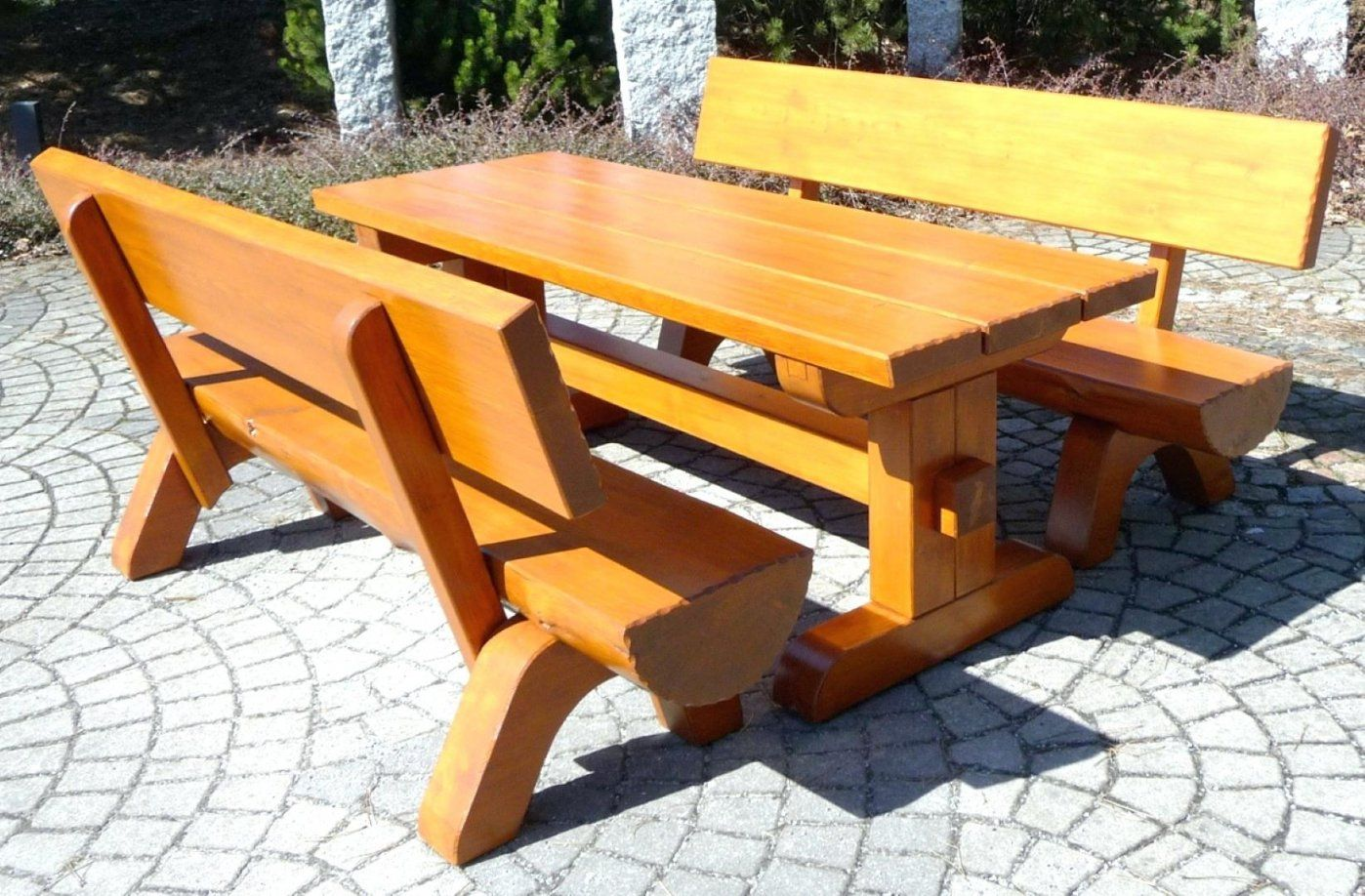 Sitzbank Tisch Kombination Holzbank Selber Bauen Galerien Sitzbank