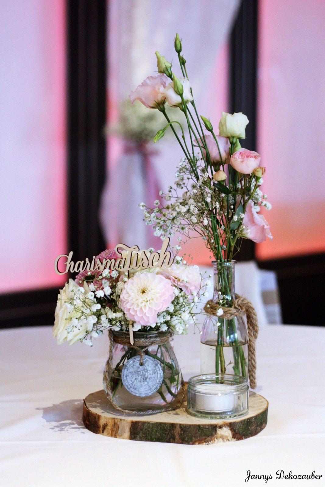Blumen Hochzeit Vintage Tisch