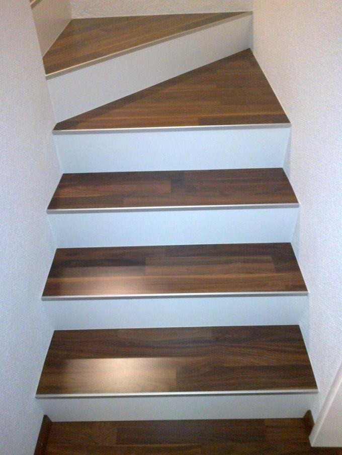 Bekannt Treppe Mit Vinyl Laminat Verkleiden | Alte Stufen Renovieren BX94