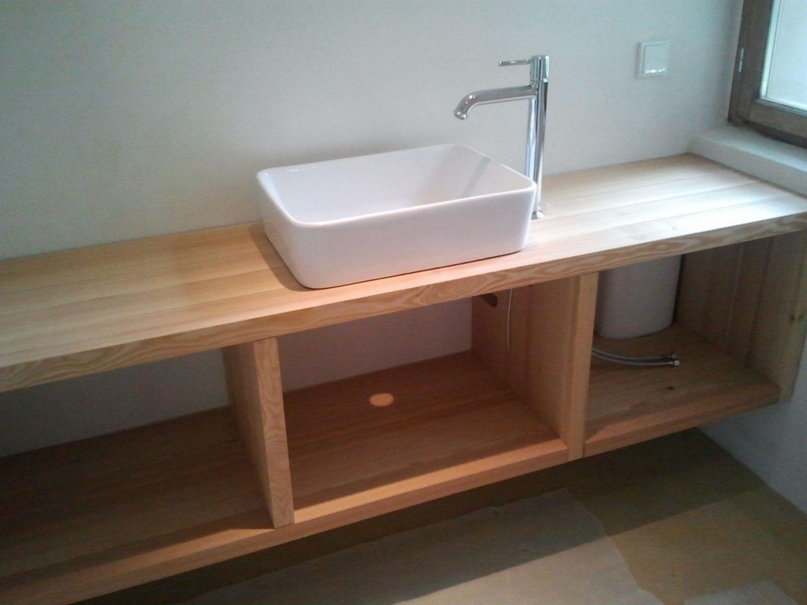 Waschbeckenunterschrank Holz Selber Bauen  Haus Design Ideen