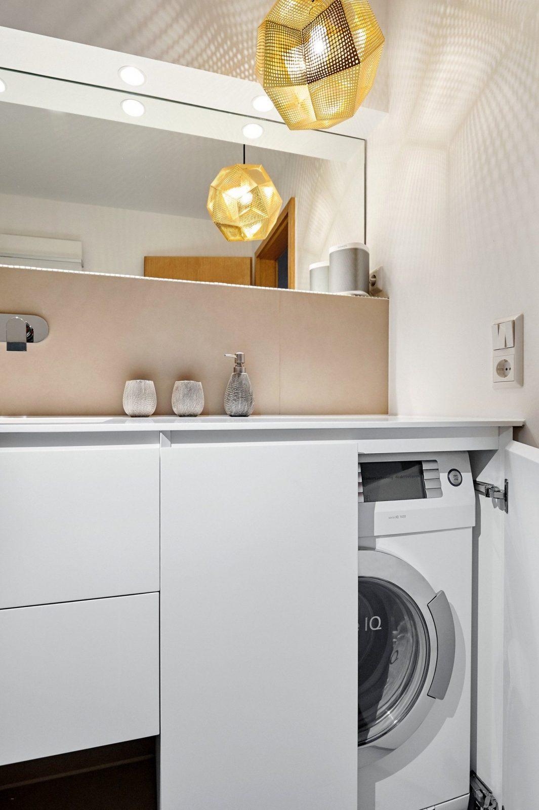 Waschmaschine Und Trockner Im Bad Integrieren Waschmaschine In Der