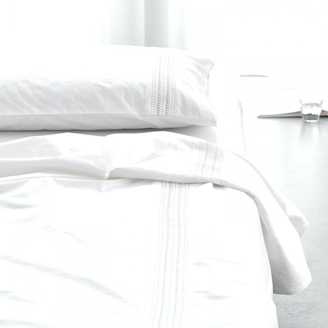 Weisse Spitzen Bettwäsche