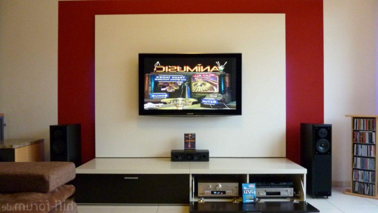 Fernseher Im Wohnzimmer Verstecken Beige Sand Gold Tapete