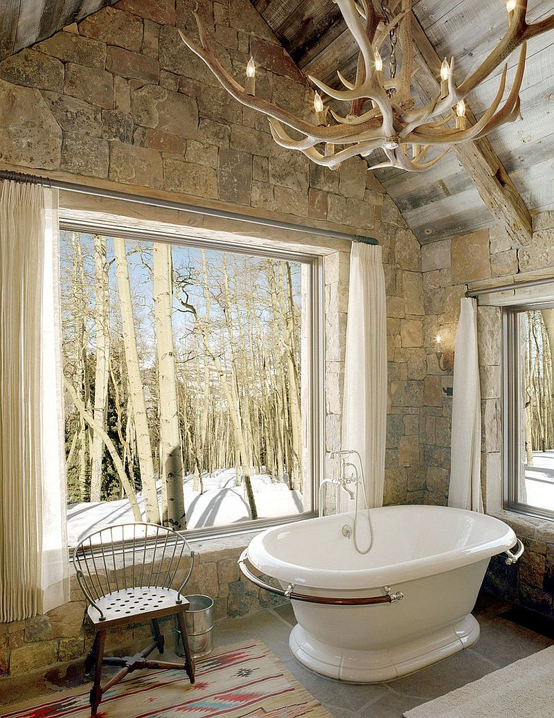Exquisite & Inspired Bathrooms With Stone Walls Inspiration Haus