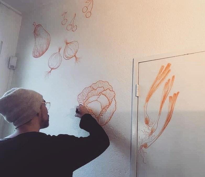 muur illustratie FoodVia