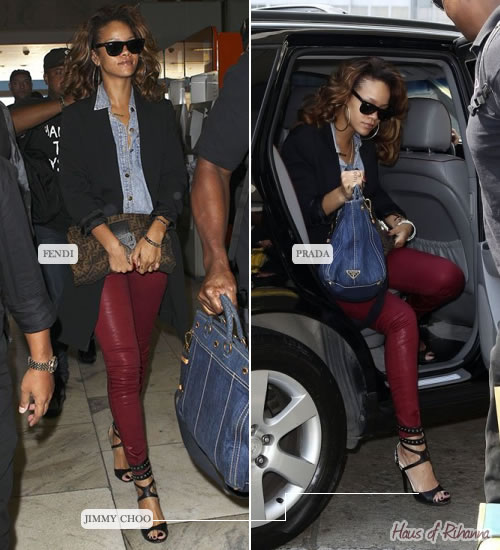 Rihanna in Jimmy Choo, Fendi, Prada