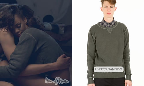Rihanna in United Bamboo sweatshirt