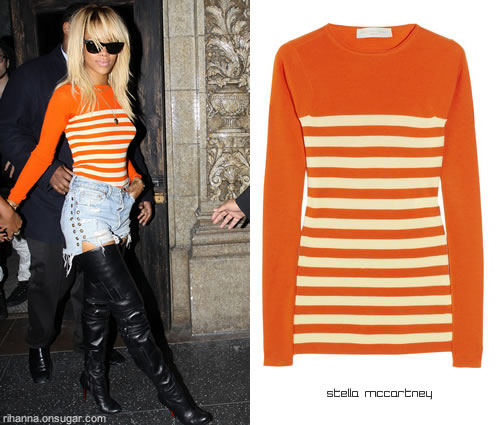 Rihanna in Stella McCartney sweater