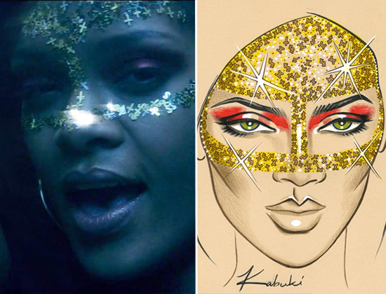 Rihanna's makeup in Where Have You Been video