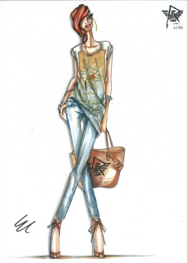 Rihanna for Armani sketch