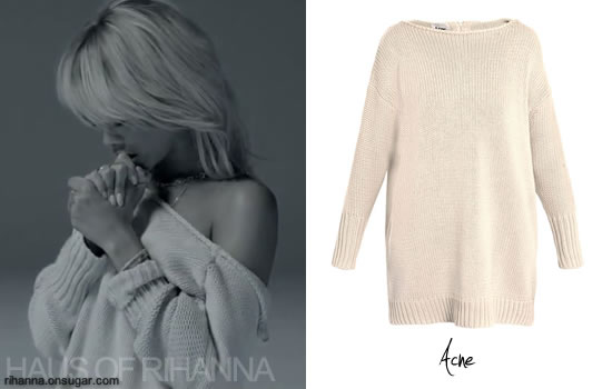 Rihanna wears Acne sweater in Take Care video