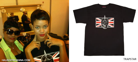 Rihanna In Trapstar Union Trap T-Shirt