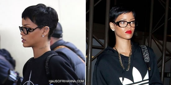 Rihanna wearing Prada Baroque eyeglasses