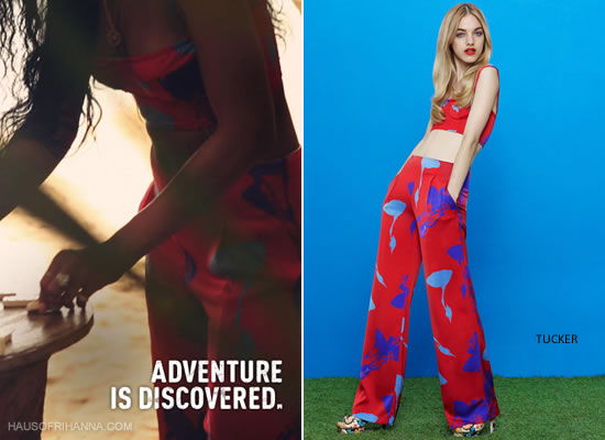 "ttp://www2.picturepush.com/photo/a/12054780/640/Haus-of-Rihanna/tucker-bta.jpg"" alt=""Rihanna wears a Tucker floral bustier and high waist pants in an ad campaign for the Barbados Tourism Authority"