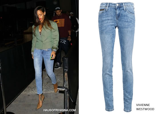 Rihanna in Vivienne Westwood Anglomania for Lee skinny jean