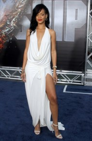 Rihanna at Battleship premiere wearing Adam Selman