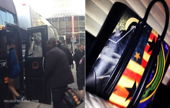 Rihanna custom Givenchy Lucrezia shopping bag tote